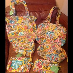 "Vera Bradley ""Provencal""- 6 pieces- yellow"